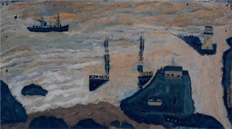 Wreck of the Alba, 1939 - Alfred Wallis