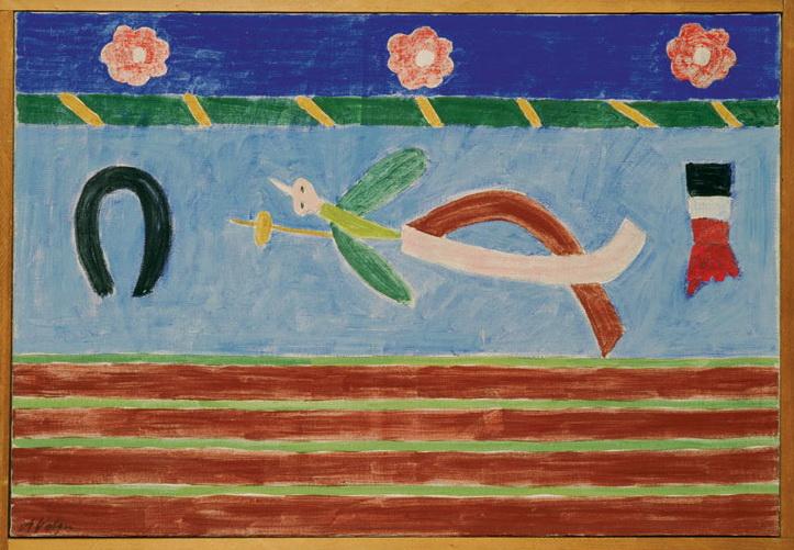 Pássaro de Papelão, 1955 - Alfredo Volpi