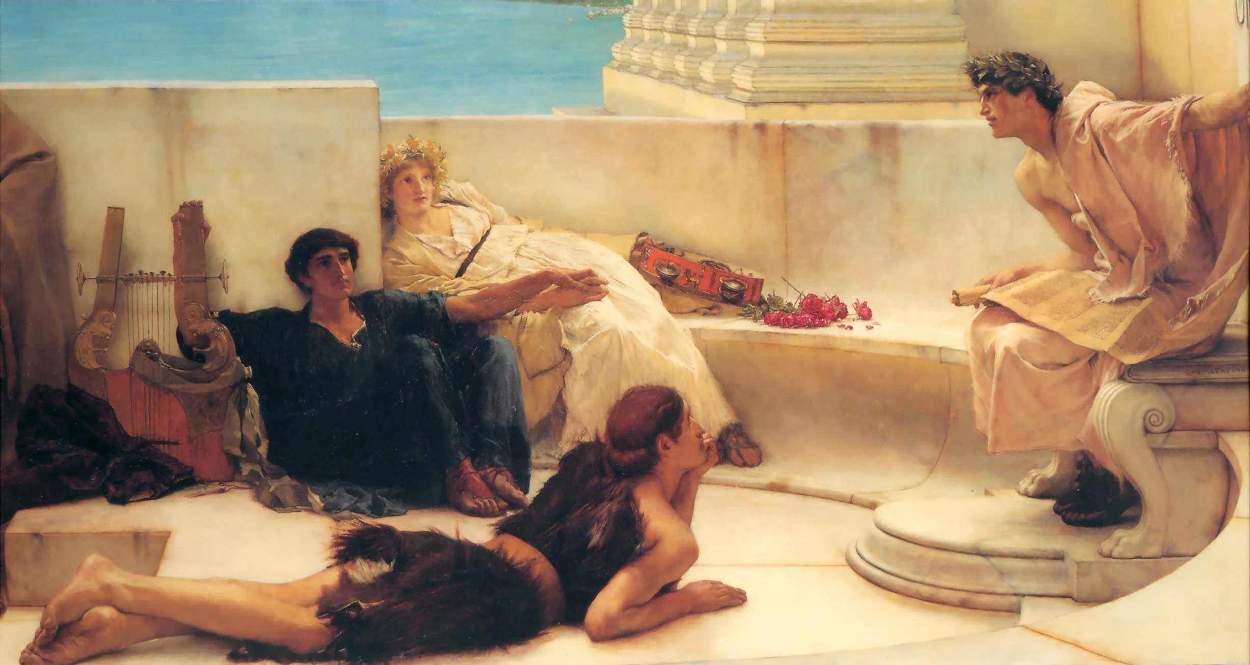 http://uploads7.wikiart.org/images/alma-tadema-lawrence/a-reading-from-homer-1885.jpg