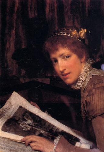 Interrupted - Sir Lawrence Alma-Tadema