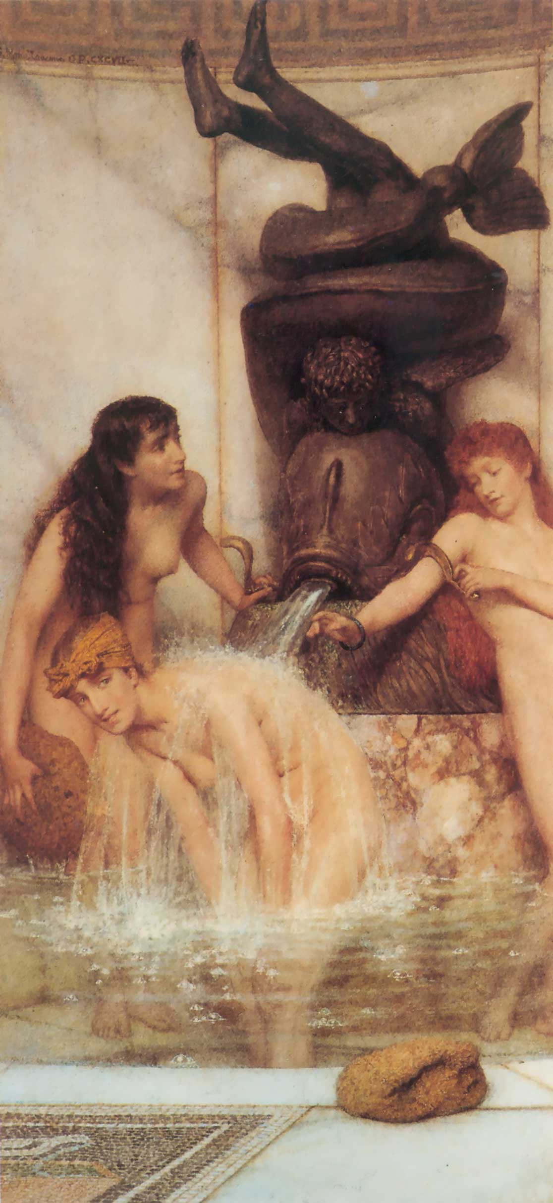 Lawrence Alma-Tadema - Page 2 Strigils-and-sponges-1879