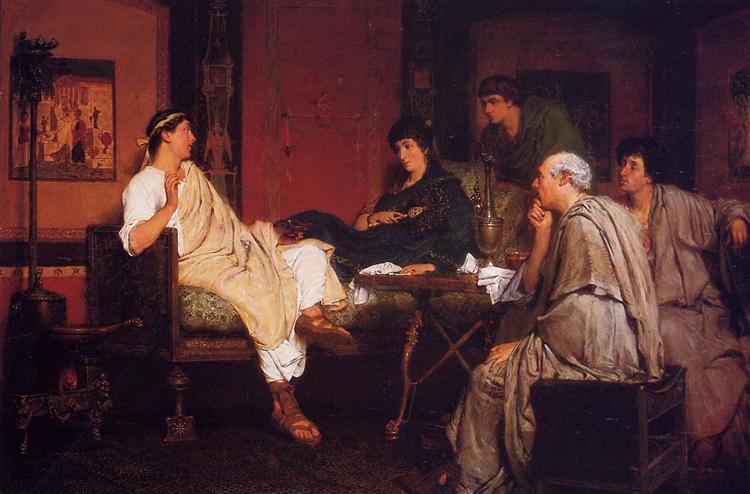 Tibulius at Delia`s - Sir Lawrence Alma-Tadema