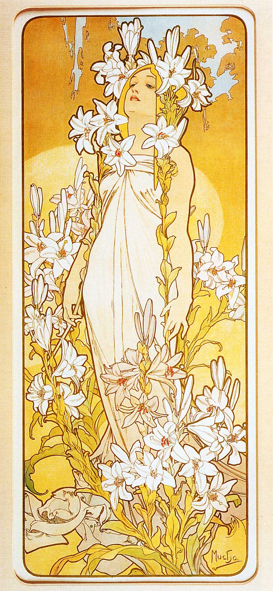 Lily - Alphonse Mucha - WikiArt.org - encyclopedia of ...