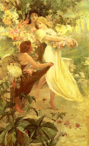 Spirit Of Spring, 1894 - Alphonse Mucha