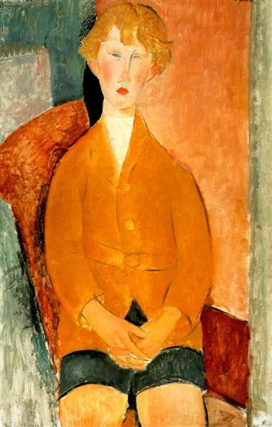 Boy in Shorts, 1918 - Amedeo Modigliani