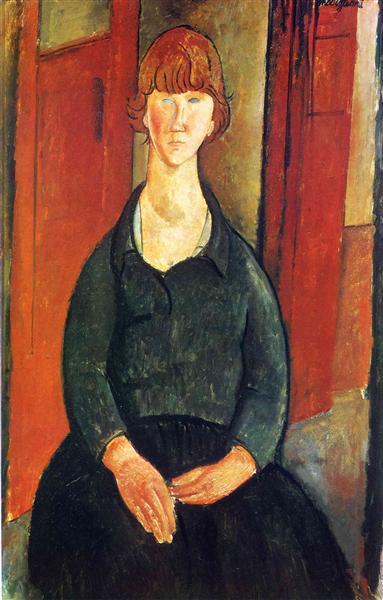 Flower vendor, 1919 - Amedeo Modigliani