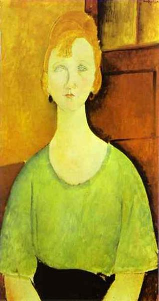 Girl in a Green Blouse, 1917 - Amedeo Modigliani