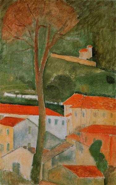 Landscape, c.1919 - Amedeo Modigliani