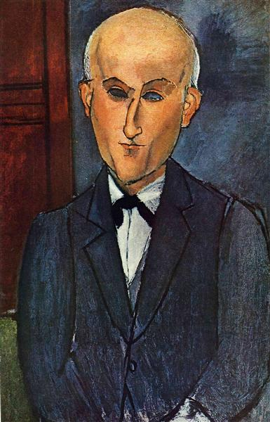 Max Jacob, c.1916 - Amedeo Modigliani