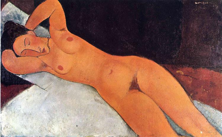 Nude, 1917 - Amedeo Modigliani