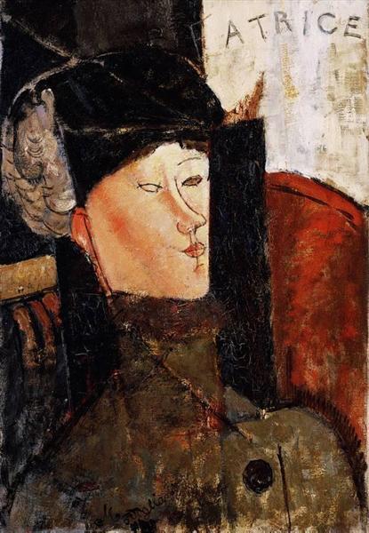 Портрет Беатрис Хастингс, 1916 - Амедео Модильяни