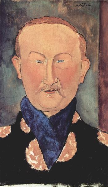 Portrait of Leon Bakst, 1917 - Amedeo Modigliani