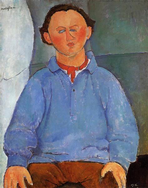 Portrait of Oscar Miestchanioff, 1916 - Amedeo Modigliani