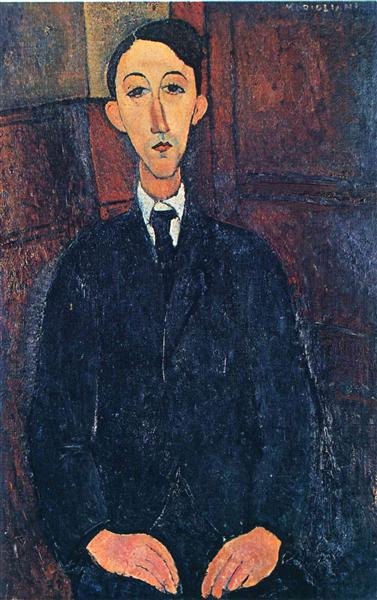 Portrait of the painter Manuel Humbert, 1916 - Amedeo Modigliani