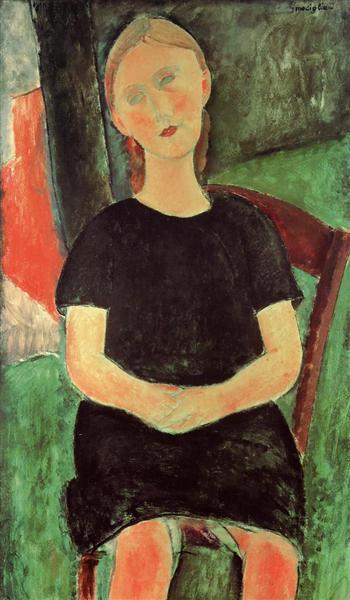 Seated Young Woman, c.1918 - Amedeo Modigliani