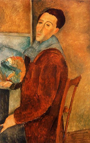 Self Portrait, 1919 - Amedeo Modigliani