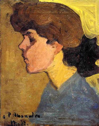 Woman's Head in Profile - Amedeo Modigliani