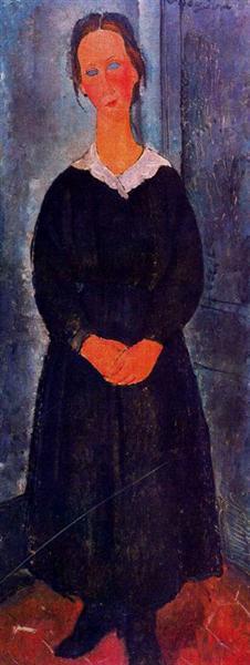 Young servant girl, c.1918 - Amedeo Modigliani