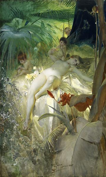 Love Nymph, 1885 - Anders Zorn