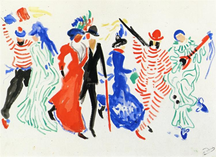Figures from a Carnival, c.1906 - Andre Derain