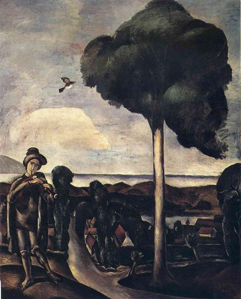 The Bagpiper at Camiers, c.1911 - Andre Derain