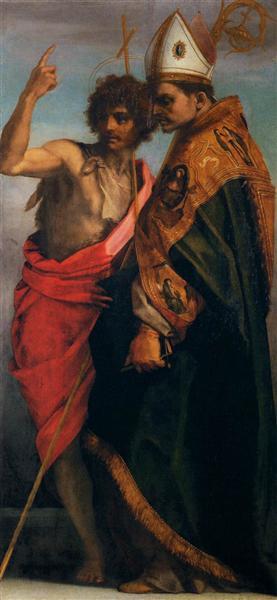 Sts John the Baptist and Bernardo degli Uberti, 1528 - Andrea del Sarto