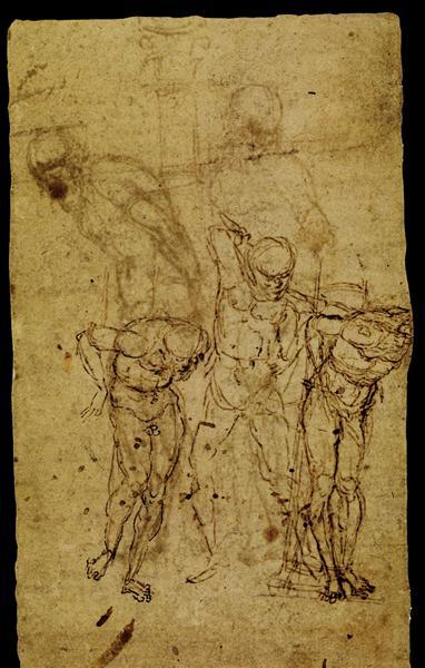 Study for a Flagellation, 1459 - 1506 - Андреа Мантенья