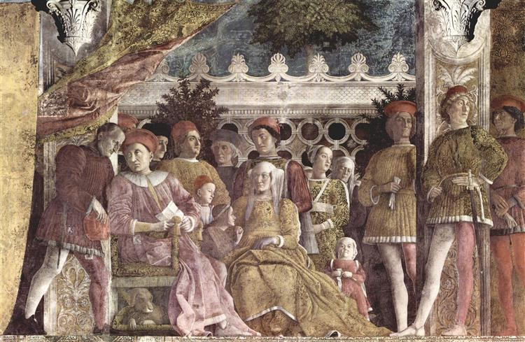 The court of the Gonzaga - Mantegna Andrea
