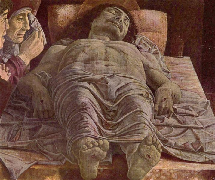 The Dead Christ (Lamentation of Christ), 1475 - 1478 - Andrea Mantegna