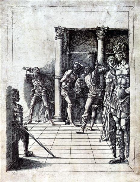 The Flagellation of Christ in the pavement, 1475 - Andrea Mantegna