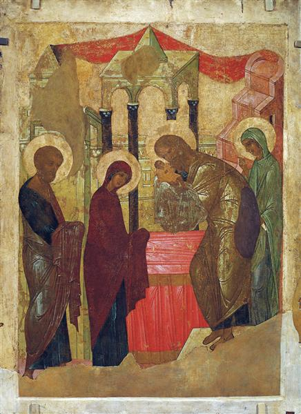 Presentation of Jesus at the Temple, 1408 - Andrei Rublev