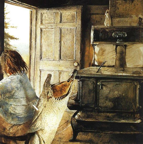 The Wood Stove - Andrew Wyeth
