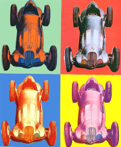 Benz Racing Car, 1986 - Andy Warhol