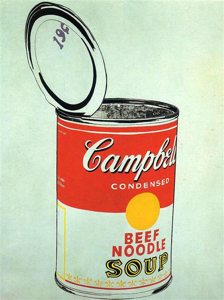 Big Campbell's Soup Can 19c (Beef Noodle) - Энди Уорхол