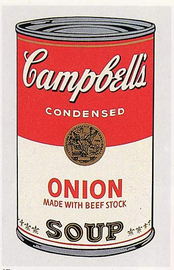 campbell 39 s soup can onion 1962 andy warhol. Black Bedroom Furniture Sets. Home Design Ideas
