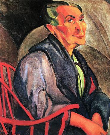 A mulher de cabelos verdes, 1916 - Anita Malfatti