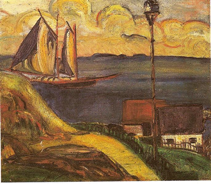 O Barco, 1915 - Anita Malfatti