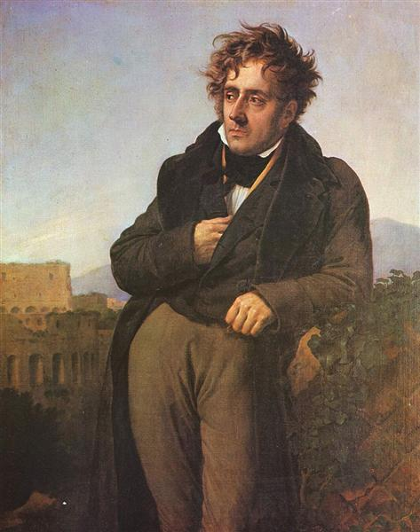 Chateaubriand Meditating on the Ruins of Rome, 1808 - Anne-Louis Girodet-Trioson
