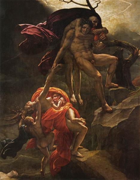 Scene of the Flood, 1806 - Анн-Луи Жироде-Триозон