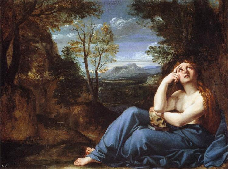The Penitent Magdalen in a Landscape, c.1598 - Annibale Carracci