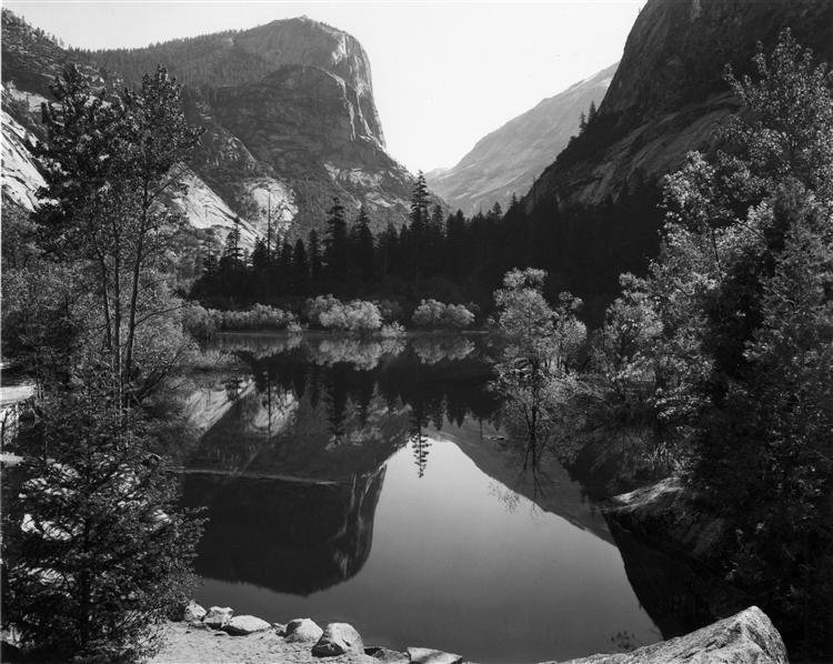 Mirror Lake, Morning, Yosemite National Park, 1928 - Ansel Adams