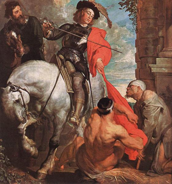 St Martin Dividing his Cloak, c.1618 - Anthony van Dyck