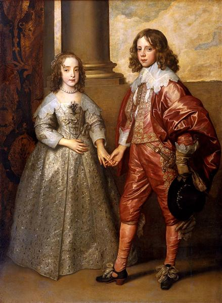 William II, Prince of Orange and Princess Henrietta Mary Stuart, daughter of Charles I of England, 1641 - Anthony van Dyck