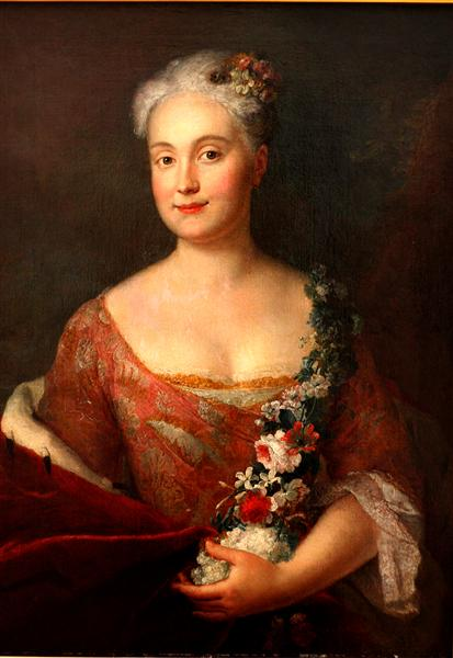 Countess Friederike von Ansbach, 1756 - Antoine Pesne
