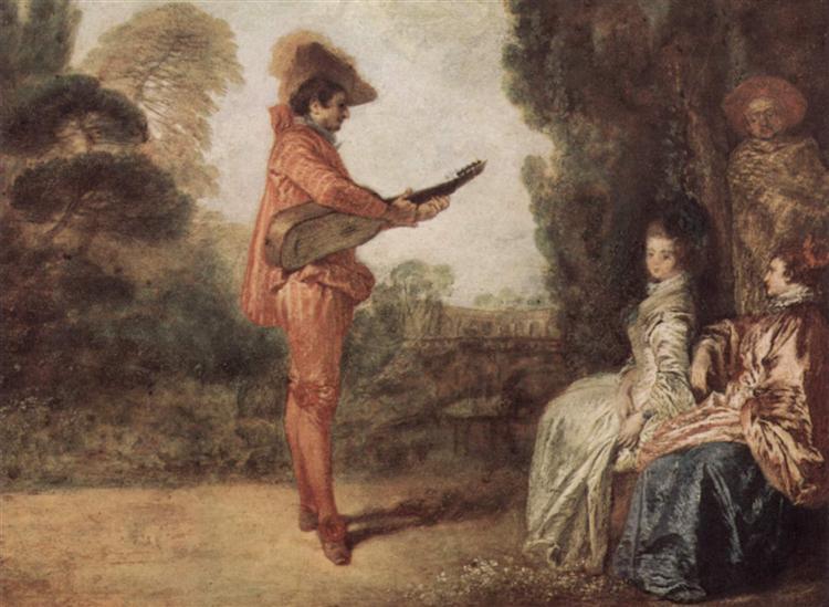 The Seducer, c.1712 - Antoine Watteau