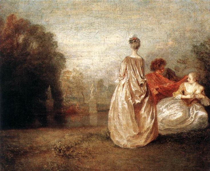 Two Cousins, c.1716 - Antoine Watteau