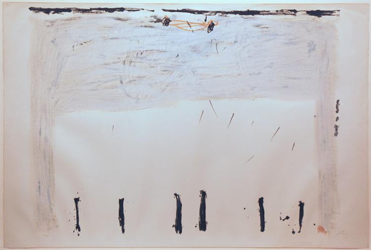 Verticales en bas, 1968 - Antoni Tapies