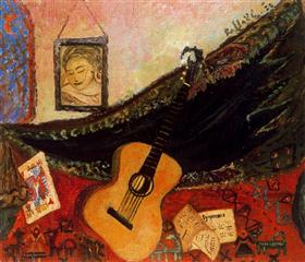 Still Life with Guitar - Antonietta Raphael