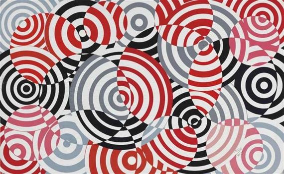 Interférences en rouge et gris (No. 640), 1963 - Antonio Asis
