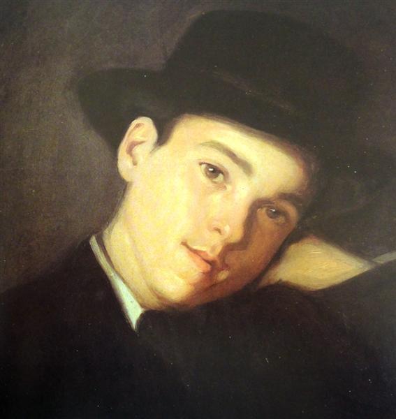 Retrato de Cláudio Carneiro, de Chapéu - Антонио Карнейро